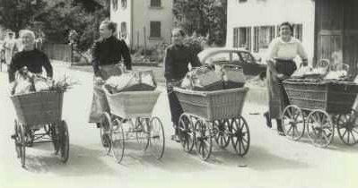 Bräusi-Tram (Sujet anlässlich des Festumzuges 1960)